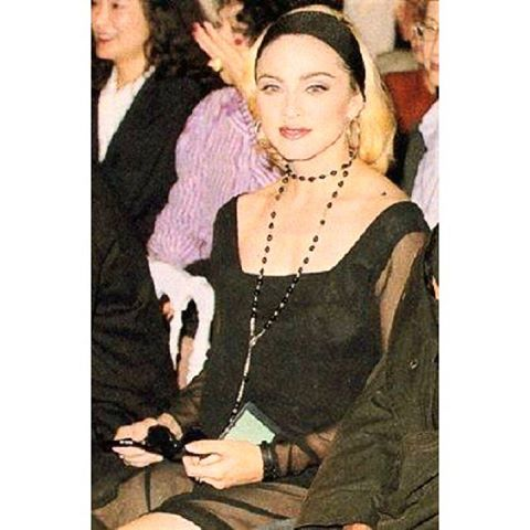 Madonna wearing Anna Sui