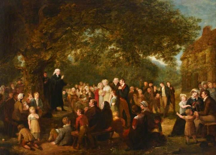 Spilsbury, Maria, 1777-1823; John Wesley Preaching in Ireland, 1789