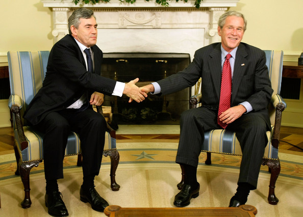 Gordon Brown with George W Bush